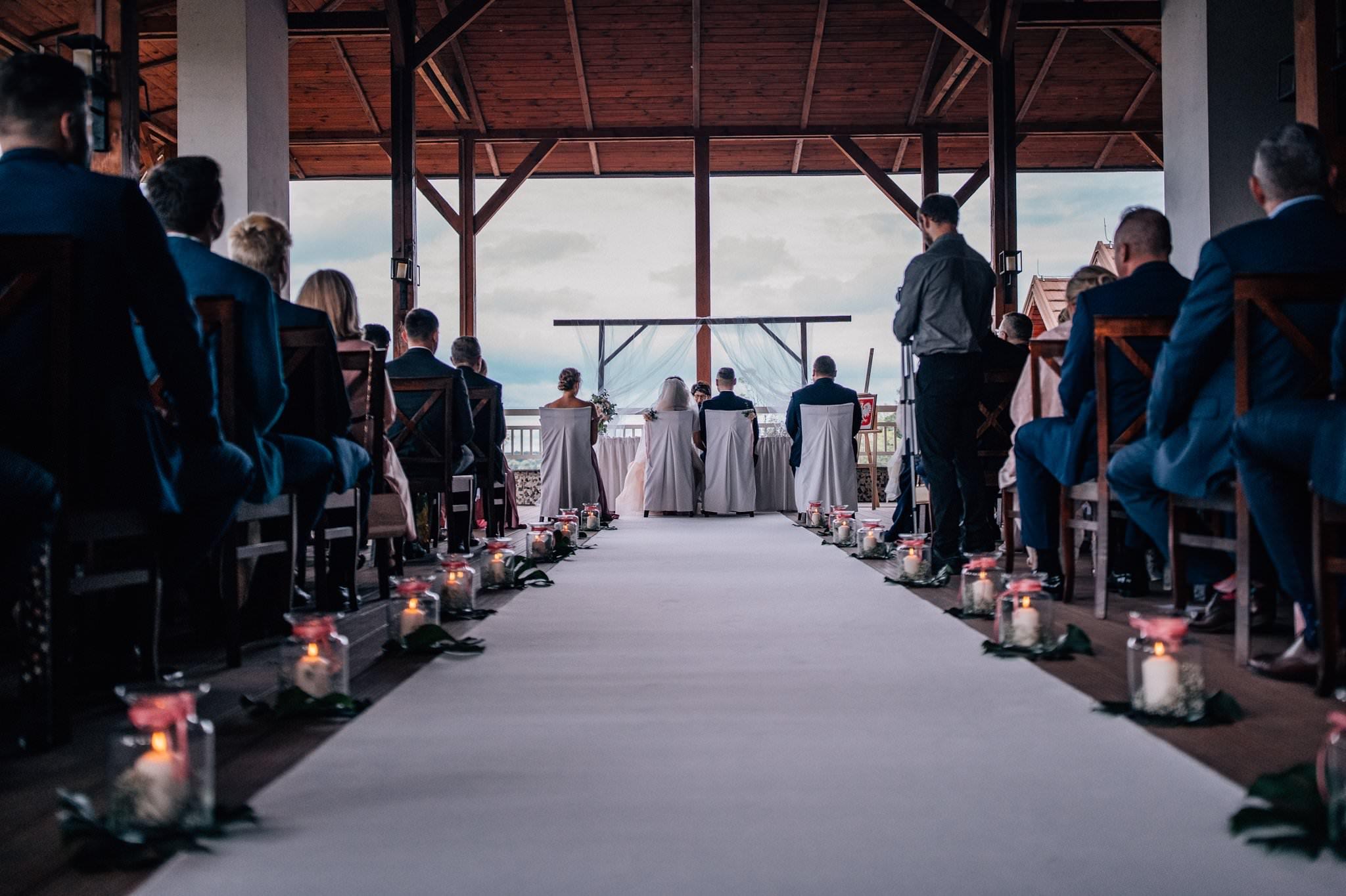Ceremonia w Hotel Parasol fotografia ślubna