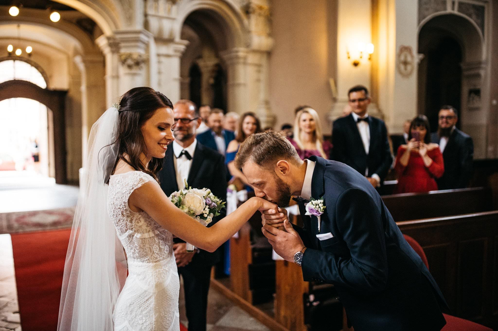 Reportaż ceremonia ślubna Owińska