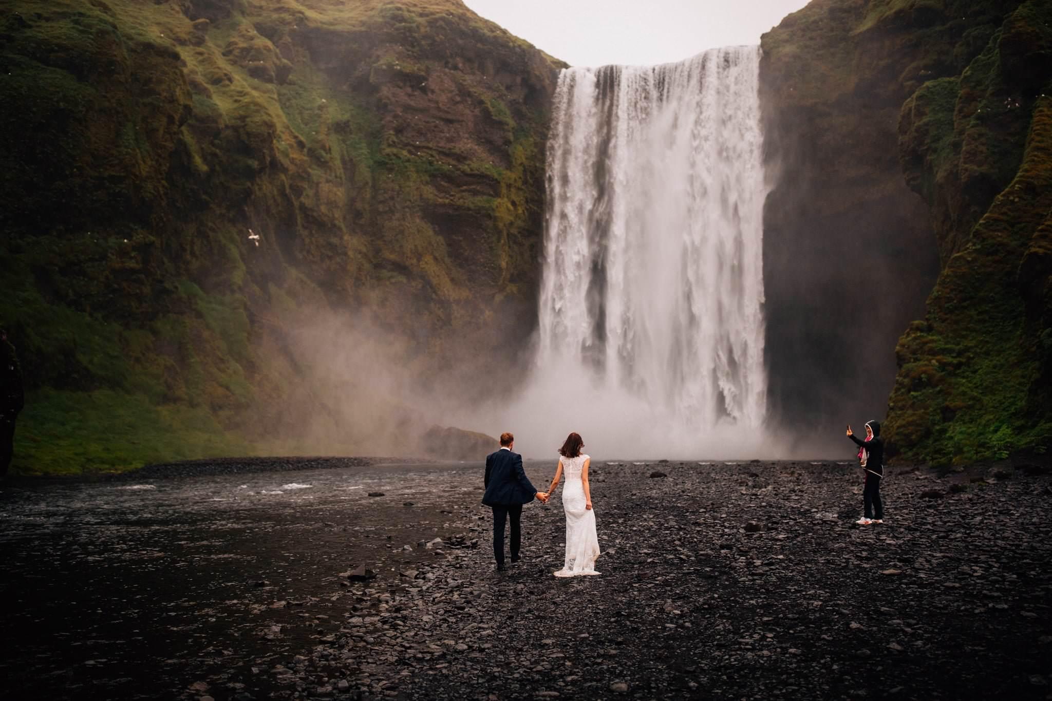 Sesja ślubna Islandia Skógafoss
