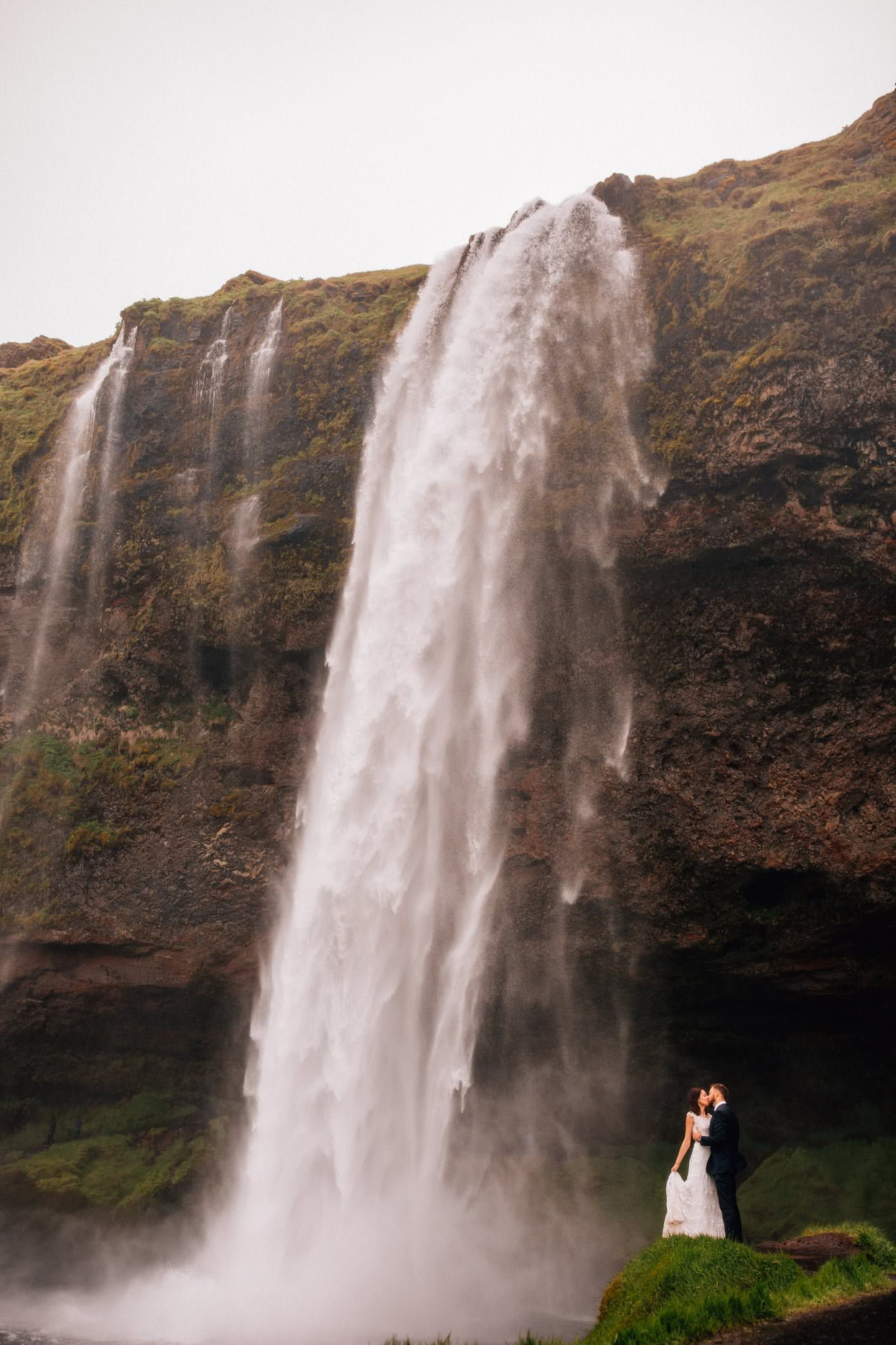 Wodospad Islandia Sesja Pary Młodej