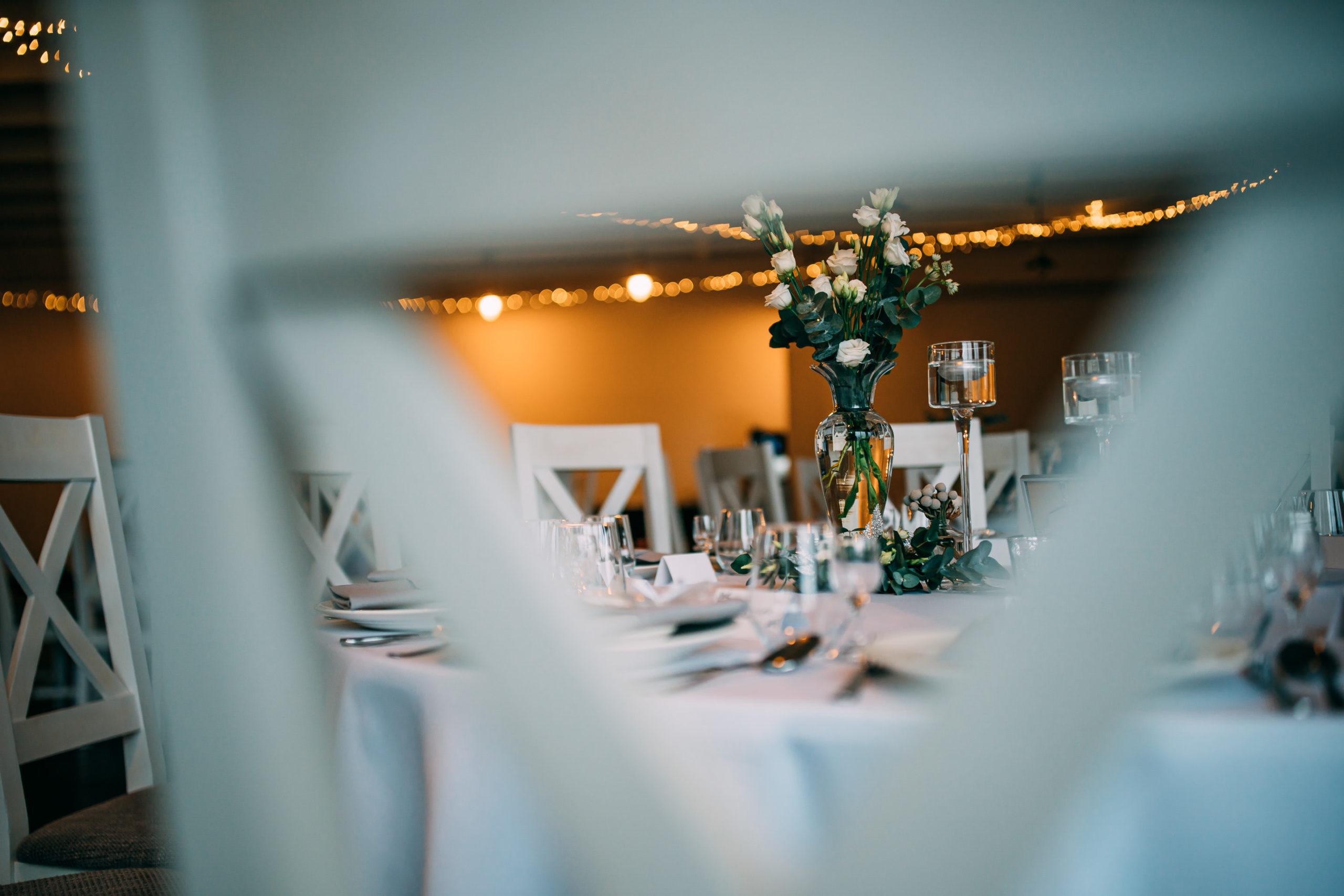 Manufaktura ślubna wystrój w sali Bagatelka przygotowania do ślubu